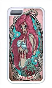 Disney Princess Chibi The Little Mermaid Ariel White TPU Case Cover for iphone 5/5s iphone 5/5s