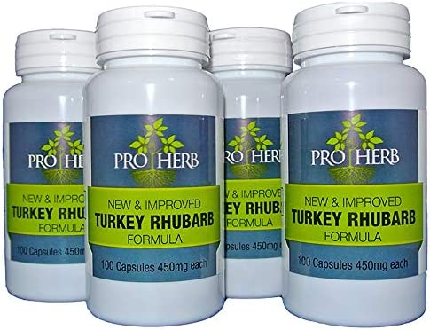 Pro Herb, Turkey Rhubarb 450mg, 100 Capsules 4 PACK 4