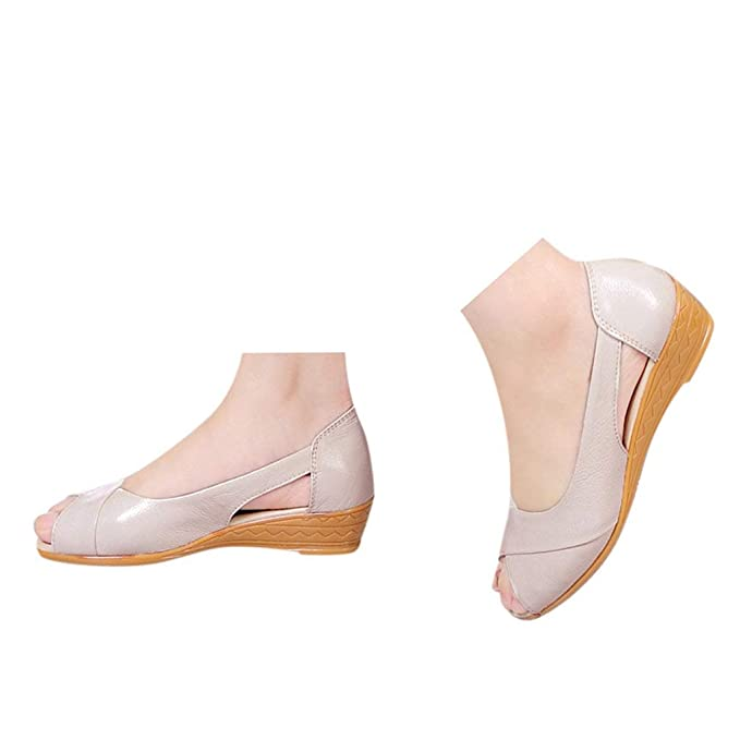 Amazon.com: Veodhekai - Sandalias planas para mujer, tacón ...