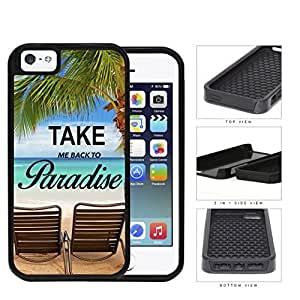Beach Chairs And Palm Trees Ocean Scenery 2-Piece Dual Layer High Impact Hard shellSilicone Cell Phone Case Case For Sam Sung Note 4 Cover