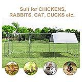 PawHut 18.5' Chicken Coop Galvanized Metal Hen