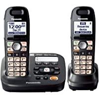 Panasonic KX-TG6592T + KX-TGA405 - 2 Handset Cordless Telephone System 1.9GHz DECT 6.0 With Range Extender