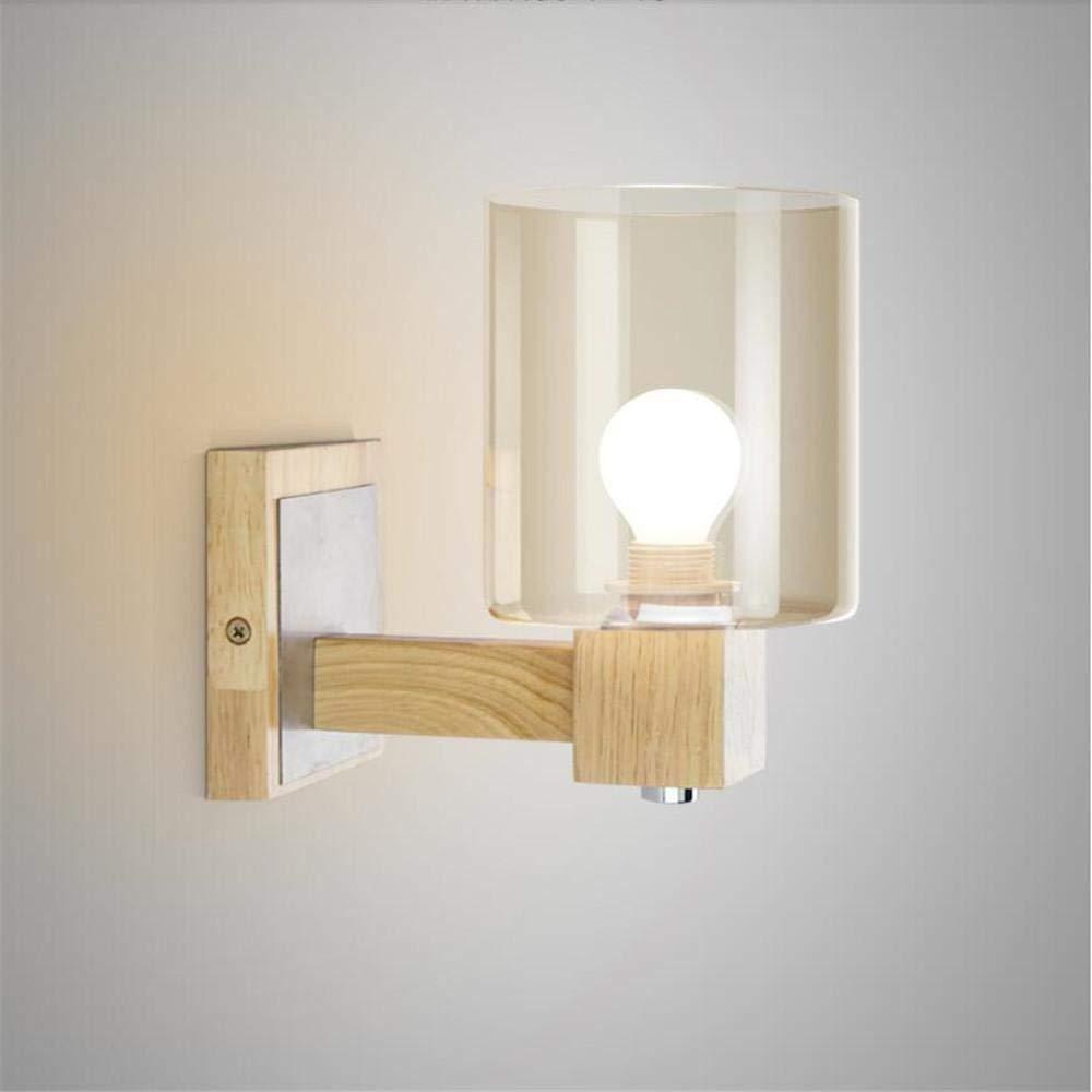 YLCJ  Moderne Glaswandleuchte Minimalistische Wohnzimmer Studie Schlafzimmer lampe Nacht E14 20  18 cm Hiso