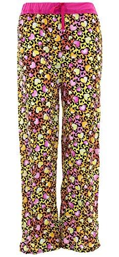 - SWEET N SASSY Big Girls' Leopard Hearts Orange Pajama Pants 7-8