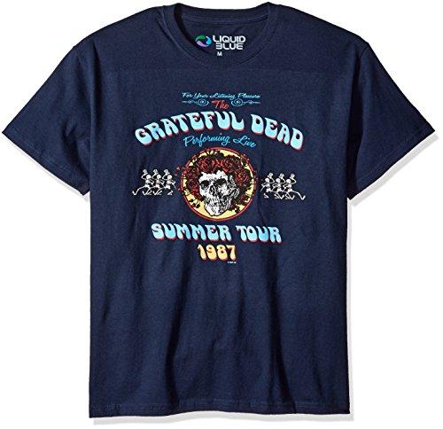 Liquid Blue Men's Bertha Tour T-Shirt, Navy Blue, Medium