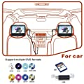 WONNIE Dual Screen DVD Player Ultra-thin TFT Screen Headrest Portable DVD Player for Car