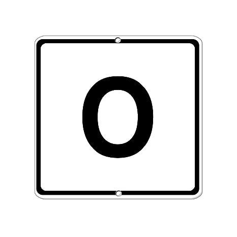 Amazon.com: Adhesivo de vinilo para letras y números, tamaño ...