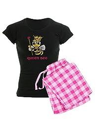 CafePress - Queen Bee - Womens Novelty Cotton Pajama Set, Comfortable PJ Sleepwear