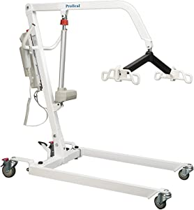ProHeal Electric Lift - Safe and Easy Full Body Patient Transfer Lifter for Home Use and Facilities - Floor, Low Bed and Chair Lifting, 6 Point Spreader Bar (500 Pound Capacity)