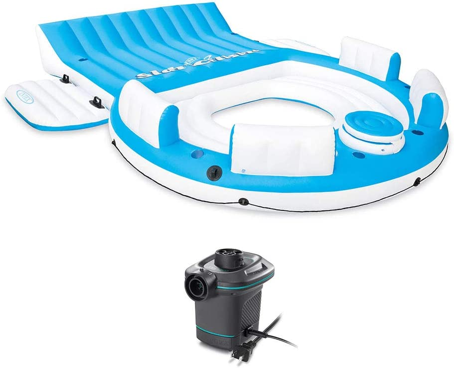 Intex Giant Inflatable Seashell Island Lounger Ride-on Swimming Pool Lake Float for sale online