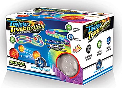 Mindscope Twister Tracks Neon Glow in the Dark 221 Piece 11 feet Long