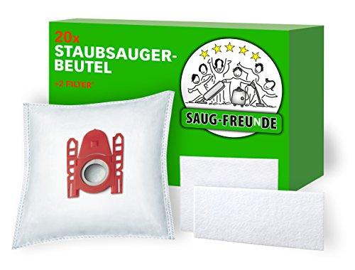 20 Staubsaugerbeutel + 2 Filter geeignet für SIEMENS VS06B2410, VS06B112A, VS06B113, VS06B1110 synchropower von SAUG-FREUnDE Made in Germany