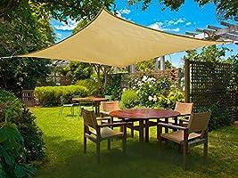 WISKEO Vela de Sombra Toldo Parasol Protección Rayos UV Pergola ...