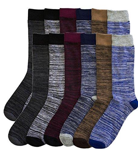 Fancy Dress Male (Mens Fancy Dress Socks Black 12 Pairs Size 10-13 (10-13, Group 4))