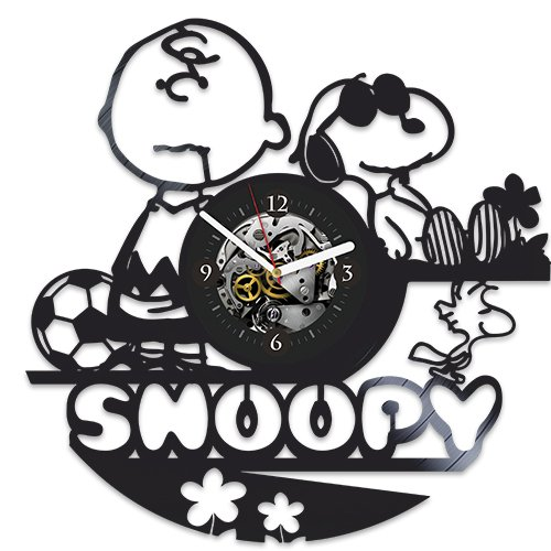 snoopy clock snoopy new year gift vinyl wall clock snoopy xmas gift