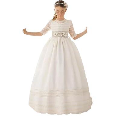 Auxico Linda Vestidos de niña de las flores Para Bodas Vestido del desfile Vestidos de comunión: Amazon.es: Ropa y accesorios
