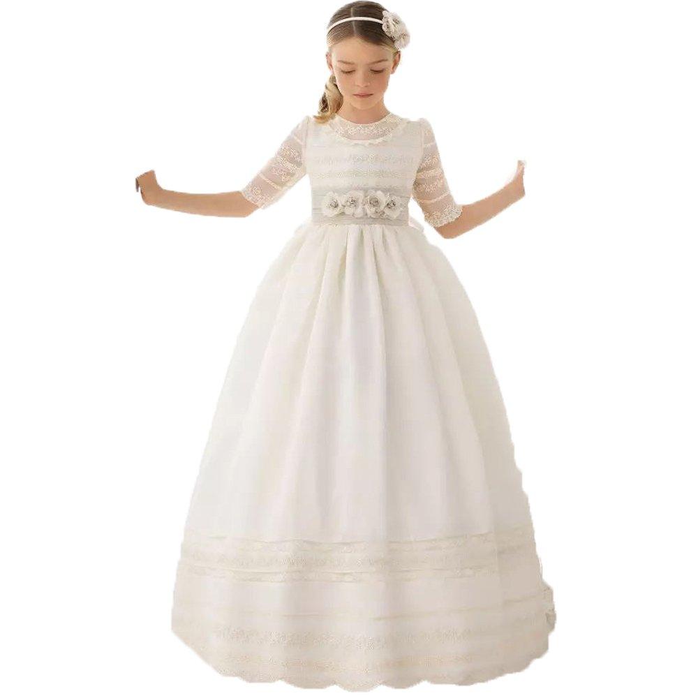 Auxico Linda Vestidos de niña de Las Flores para Bodas Vestido del Desfile Vestidos de comunión
