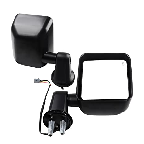 Heated Mirror Kit LED Signals Black for Jeep Wranglers 1987-2002 Rugged Ridge