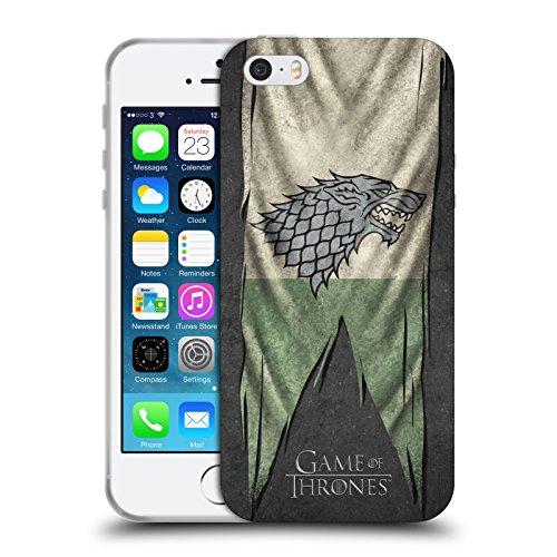 Officiel HBO Game Of Thrones Stark Drapeaux De Symbole Étui Coque en Gel molle pour Apple iPhone 5 / 5s / SE