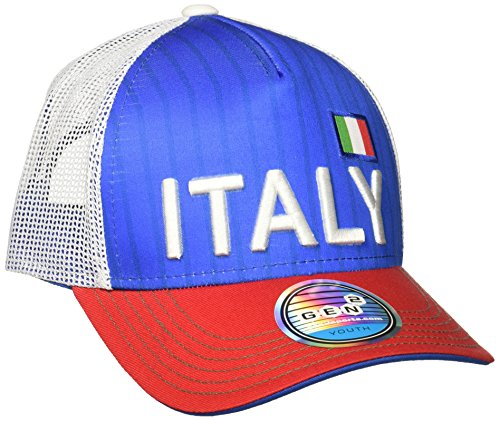 World Cup Soccer Italy Boys Jersey Hook Flag Snapback Cap, Royal, One Size