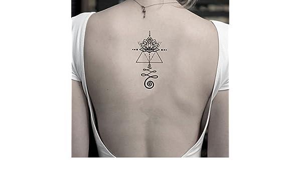 Tatuaje Temporal de Flor de loto unalome (2 Piezas) - www.ohmytat ...