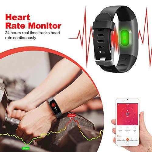 smartwatch uhr mit pulsmesser fitness armband. Black Bedroom Furniture Sets. Home Design Ideas