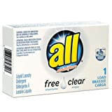 All Free Clear HE Liquid Laundry Detergent, Unscented, 1.6 oz Vend-Box, 100/Carton, 2/Pack