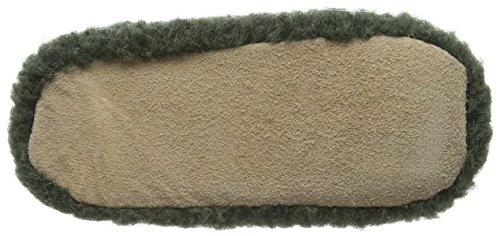 Woolsies Hedgehog Natural Wool Mule Slippers, Unisex Adults' Open Back Slippers Green (Green)