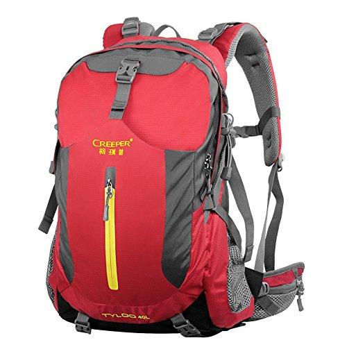 ZQ hombres y mujeres del bolso de hombro bolsos del alpinismo al aire libre, viajes de excursión desgaste mochila impermeable oso transpirable , purple 40 liters green 40 liters