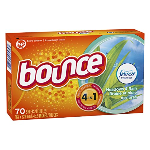 Bounce with Febreze Meadows & Rain Dryer Sheets, 70 Count, (Pack of 3) by Bounce (Image #5)