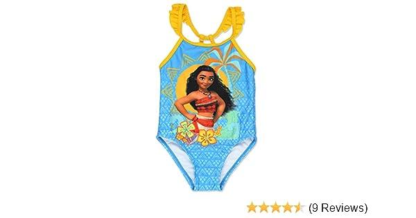 98648c3359 Amazon.com: Disney Moana Toddler Girls One Piece Swimsuit (3T, Blue):  Clothing