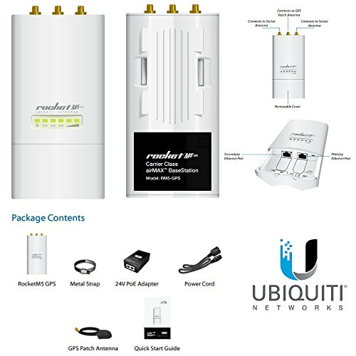 ROCKET M5-GPS 5GHz Hi Power 2x2 MIMO AirMax by Ubiquiti Networks