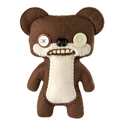 "Fugglers - Funny Ugly Monster, 9"" Teddy Bear Nightmare (Brown) Plush Creature with Teeth, for Ages 4 & Up from Fugglers"