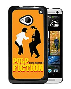 Fashionable Custom Designed Cover Case For HTC ONE M7 With Pulp Fiction Black Phone Case