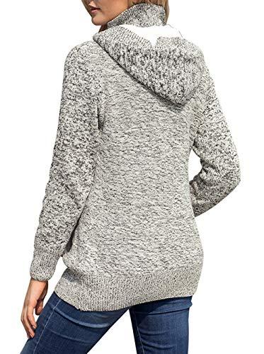 Inverno Moda Con Giacche Casual Outwear Hoodie Maglione Manica Donne qzIwzvAH