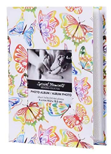 Colorful Fluttering Butterflies Stylish Butterfly Design Photo Album for 4 x 6 Pictures