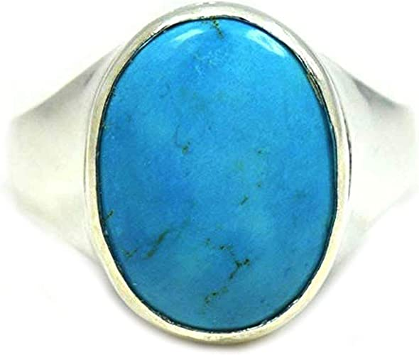 Blue Turquoise Ring Size 6 12