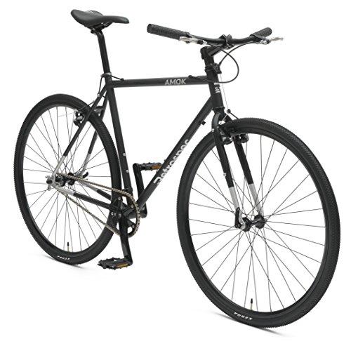 Retrospec Bicycles AMOK V2 CycloCross Convertible Single-Speed/Commuter Bike with Chromoly Frame, Matte Black, 54cm/Medium Retrospec Bicycles