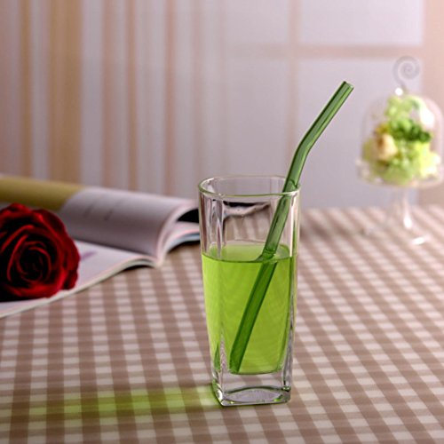 Feccile 7Pcs Reusable Glass Straws for Drinking by Feccile Kitchen (Image #8)