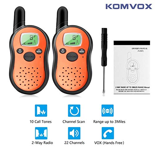 Long Range Durable Wakie Talkies For Kids, 2 Way Radios, Walky Talky Kidz Back to School Electronics Radio Cool Toys, Birthday Christmas Gifts for Boys Girls Teens Outdoor Spy Games Camping Hunting