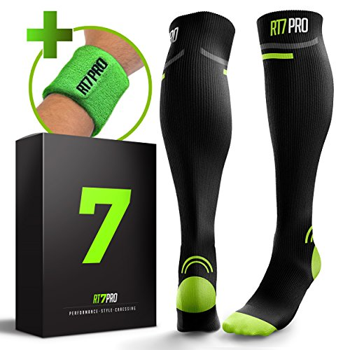 Running Compression Socks – Pro Compression Socks for Women & Men – Knee High Socks for Pregnancy, Travel & Nurses – Best Running Accessories – Graduated Athletic Fit Boosts Circulation & Recovery For Sale