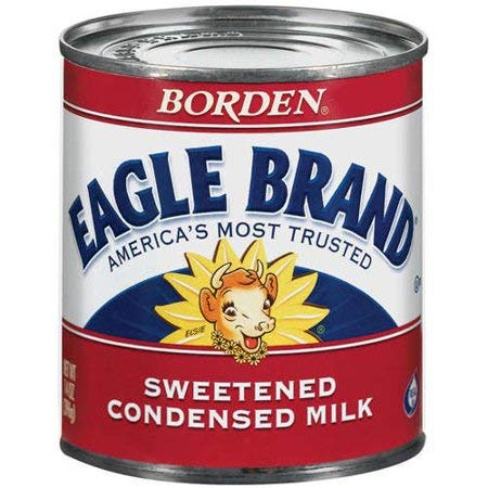 Sweetened Condensed Eagle Brand Milk, 14 oz, Ideal For Adding a Rich Texture To Baked Goods and Desserts,130 Calories per 2 Tbsp,Made with Whole Milk and Sugar,Pack of 5