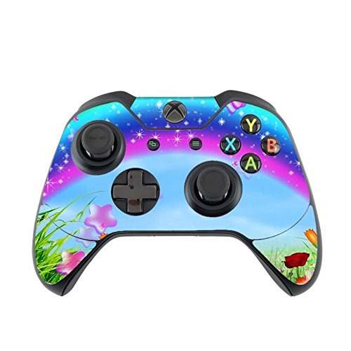 Xbox One Controller Vinyl Decal Sticker Skin, Cute Girly Rainbow Scenic Print (My Little Pony Xbox)