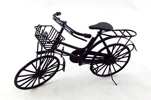 Vanity Fair Dolls House Miniature Outdoor Accessory Shopping Bike Basket & Luggage Rack