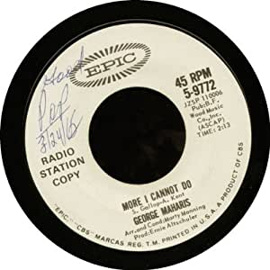 George Maharis: More I Cannot Do - Epic - 7'' - USA