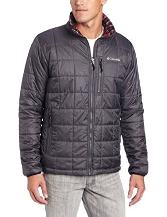 Columbia Men's Half Life Reversible Ii Jacket, Grill, Medium