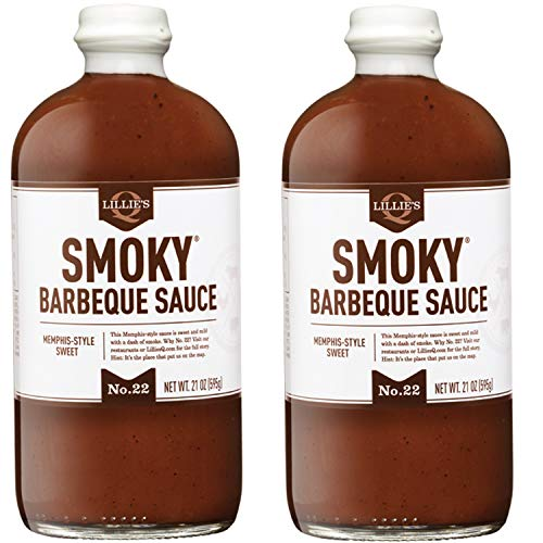 Style Bbq Sauce - Lillie's Q Smoky Memphis-Style Sweet Barbeque Sauce, 2 Pack