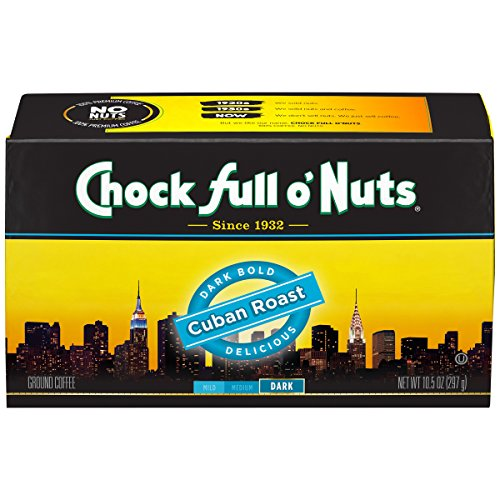Chock Full O Nuts Coffee Brick, Cuban Roast Ground, 10.5 Ounce