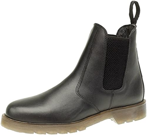 Mens Martin Boots Chelsea Work Round Toe Ankle Boots Air Cushion Soles