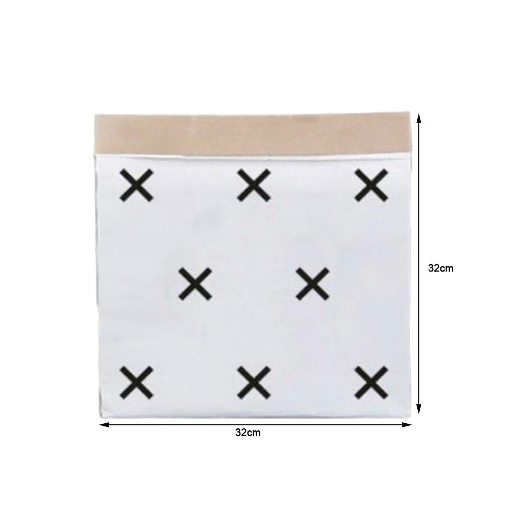 3 # MagiDeal Sac en Papier Kraft de Rangement Sac Recyclable pour V/êtements Aliments Chaussure Maison 32x 32x16cm